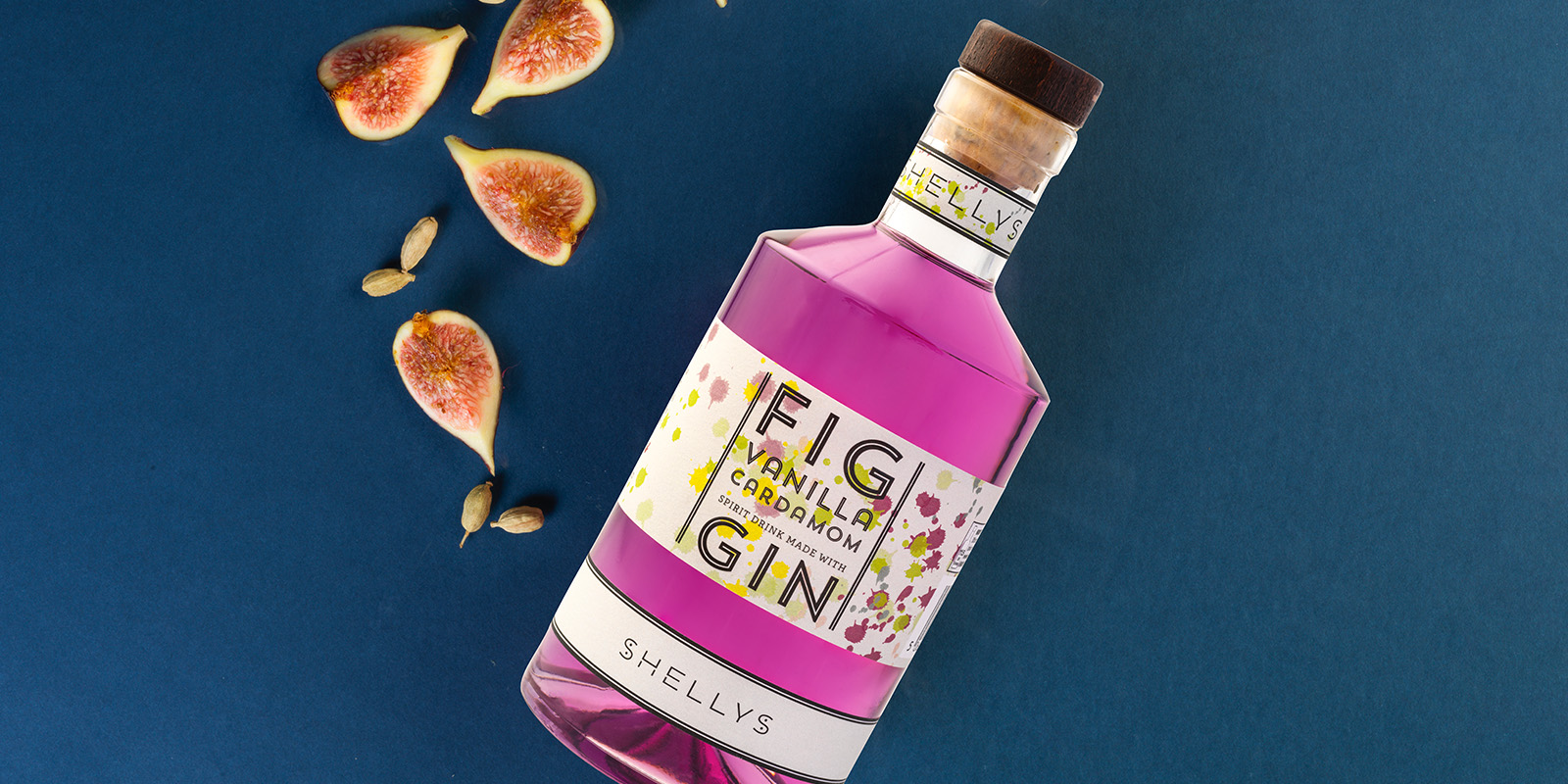 Shelly Drinks fig and vinilla Gin
